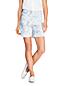 Short en Seersucker Taille Mi-Haute Imprimé, Femme Stature Standard