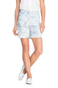 "Women's Mid Rise 7"" Print Seersucker Shorts"