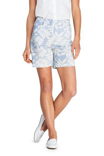 Gemusterte Seersucker-Shorts