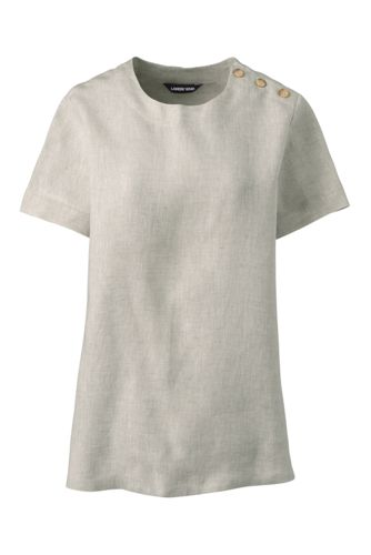 Women's Short Sleeved Linen T-shirt
