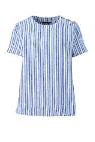 Women's Plus Size Linen Short Sleeve T-Shirt