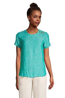Women's Short Sleeved Linen T-shirt