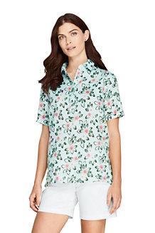 Women's Linen Camp Shirt