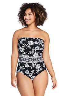 Women One Piece Beachwear Swimwear Adjustable Straps Tummy Control Plus Size