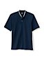 Men's Stretch Piqué Polo Shirt with Grandad Collar