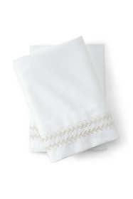 400 No Iron Supima Sateen Embroidered Pillowcases