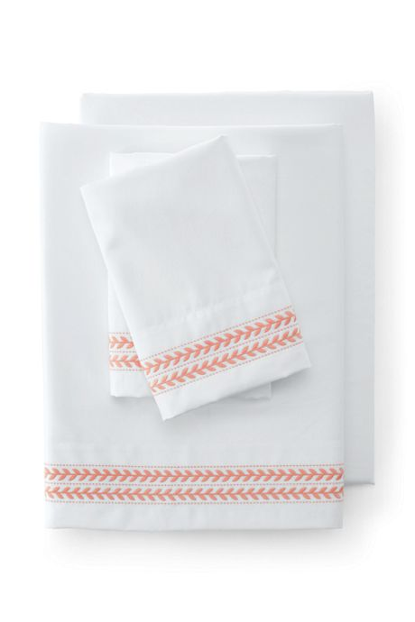 400 No Iron Supima Sateen Embroidered Pillowcases