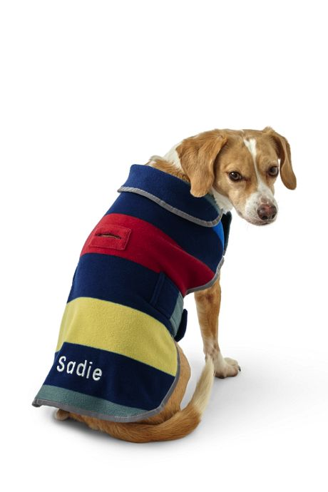 Printed Fleece Dog Coat Jacket