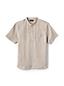Men's Banded Collar Popover Linen Shirt