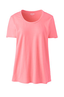 Women's Linen Blend U-neck T-shirt