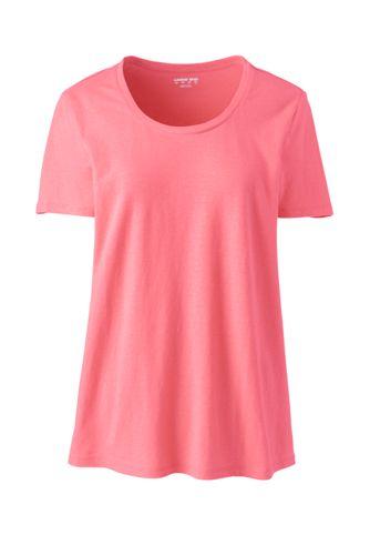 Women's Linen Blend Scoop Neck T-shirt