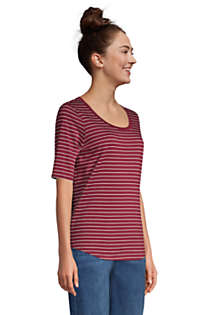 Women's Tall Elbow Sleeve Supima Cotton Scoop Neck T-Shirt, alternative image