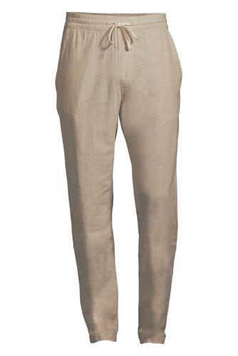 Pantalon en Coton et Lin Taille Elastiquée, Homme Stature Standard
