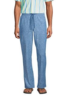 Pantalon en Coton et Lin Taille Elastiquée, Homme