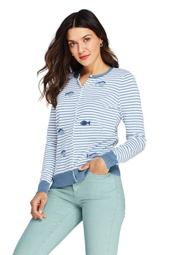 Cardigan Fines Mailles Supima, Femme Stature Standard