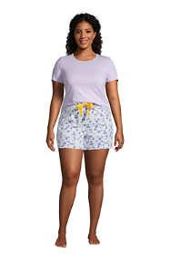 Women's Plus Size Knit Pajama Short Set Short Sleeve T-Shirt and Shorts