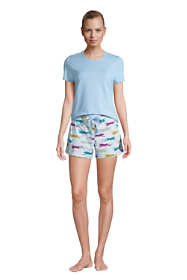 Women's Knit Pajama Short Set Short Sleeve T-Shirt and Shorts