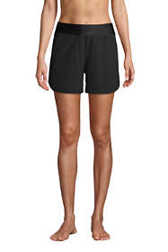 "Women's Curvy Fit 5"" Quick Dry Elastic Waist Swim Shorts with Panty"