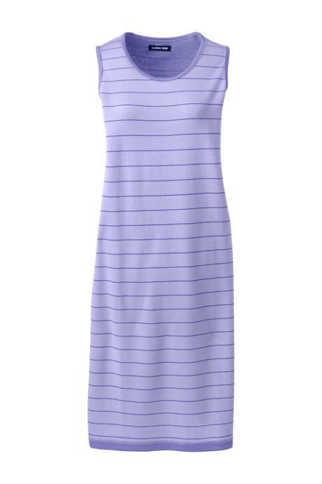 Women's Plus Size Sleeveless Reversible Knee Length Tank Dress