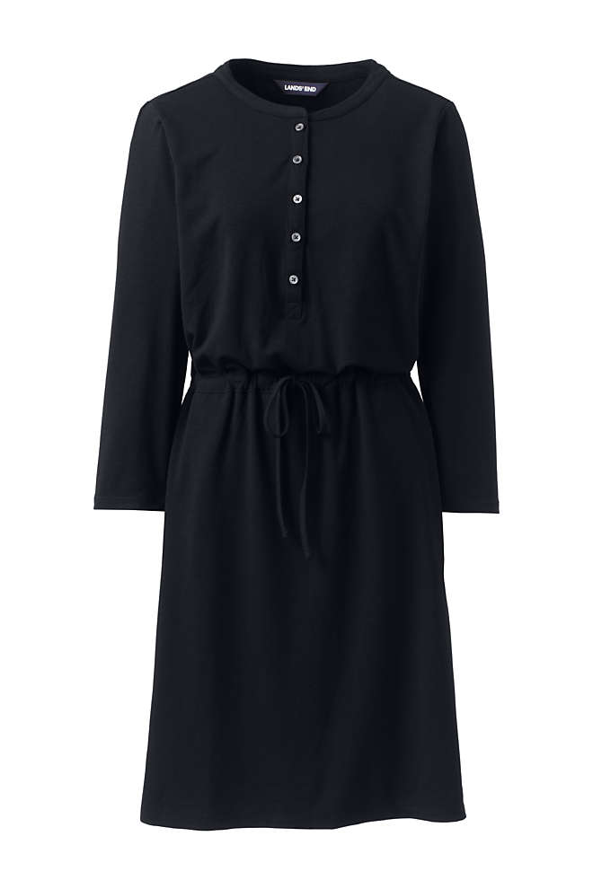 Women's Long Sleeve Knee Length Shirt Dress with UV Protection, Front