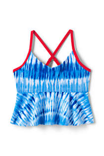 Little Girls Flounce Tankini Top, Front