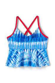 Girls Slim Flounce Tankini Top