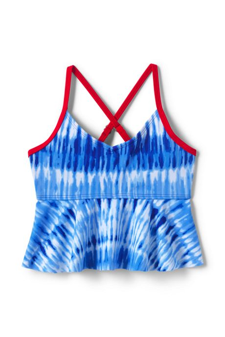 Girls Flounce Tankini Top