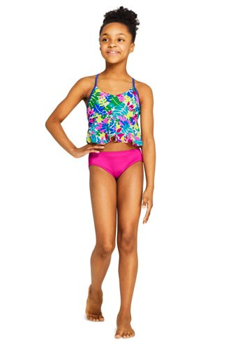 Girls Plus Flounce Tankini Top
