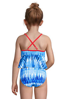 Little Girls Flounce Tankini Top, Back