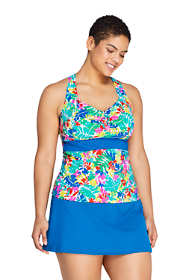 Women's Plus Size Sweetheart Tankini Top Swimsuit Adjustable Straps