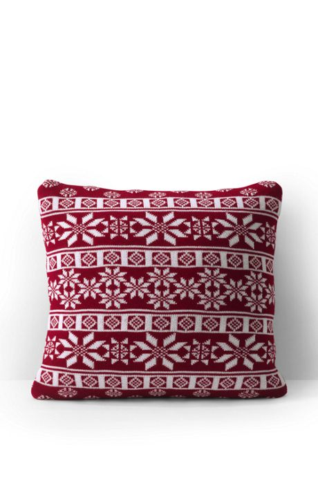 Fairisle Knit Christmas Pillow