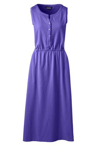 Ärmelloses Jerseykleid in Midi-Länge für Damen