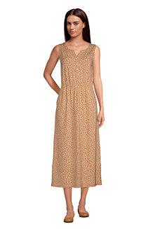 Women's Cotton-Modal Henley Midi Dress