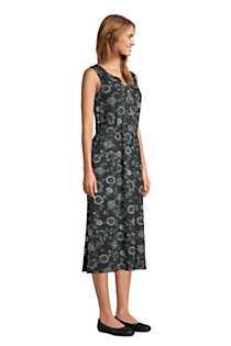 Women's Cotton Blend Sleeveless Midi Shirt Dress, alternative image