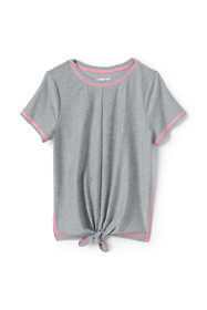 Little Girls Knot Front Performance Tee Shirt