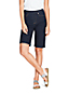 Women's High Waisted, Pull-on Stretch Denim Bermudas