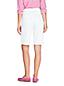 Bermuda en Jean Stretch Taille Haute Élastiquée Blanc, Femme Stature Standard