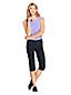 Jean Capri Stretch Droit Indigo, Femme Stature Standard