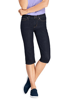Capri-Jeans Mid Waist in Indigo