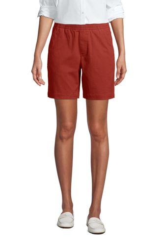Short Chino Stretch Taille Élastiquée, Femme Stature Standard