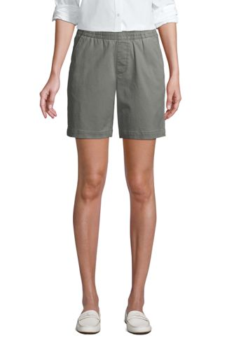 Short Chino Stretch Taille Élastiquée, Femme Stature Standard