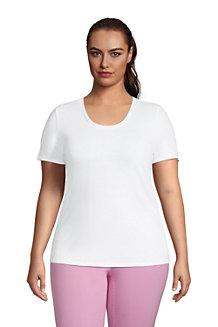 Women's Linen Blend U-neck T-shirt