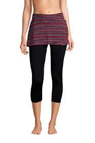 Women's High Waisted Modest Skirted Swim Leggings Swim Pants Cover-up UPF 50 Sun Protection Print
