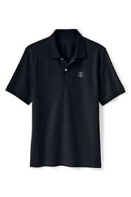 Men's Polo Shirt with Lighthouse Logo Supima Cotton Short Sleeve