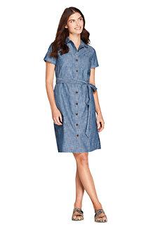 Chambray-Blusenkleid für Damen