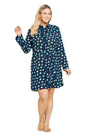 Draper James x Lands' End Women's Plus Size Cotton Shirt Dress Swim Cover-up