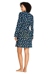 Draper James x Lands' End Women's Cotton Button Down Belted Shirt Dress Swim Cover-up Embellished, Back