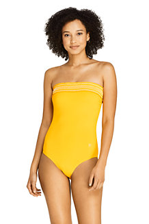 Women's Draper James x Lands' End Bandeau Swimsuit