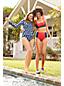 Draper James x Lands' End Bas de Bikini Taille Mi-Haute, Femme Stature Standard
