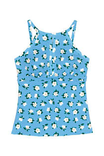 Draper James x Lands' End Women's DD-Cup Keyhole High Neck Tankini Top Swimsuit, Front